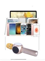 Wholesale H6 Battery - H6 Wireless Microphone Bluetooth Speaker with Large Capacity Battery Karaoke Loudspeaker for Cellphone High Quality With packet