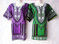 Wholesale Tshirt Casual Dress - Wholesale-5Colors New african fashion design african Women T Shirt Dashiki traditional print Dashiki tshirt dress for lady longline dress