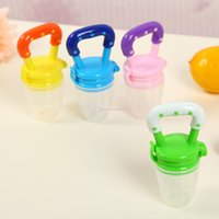 Wholesale Infants Milk - 2017 new infant pacifier Silica gel toddler Pacifier Safe baby Fresh Food Milk Nibbler Feeder Feeding Tool 3 Size available C2234