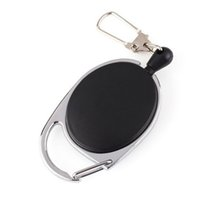 Wholesale key ring holder belt clip - Retractable Pull Badge Reel ID Lanyard Name Tag Card Holder Reels Recoil Belt Key Ring Chain Clips Hook ZA5259