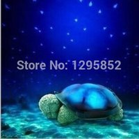 Wholesale Turtle Projection Night Lamp - Wholesale-2015 new high quality musical Sleep turtle The turtle sky projection lamp night light stars lamp color box package with USB