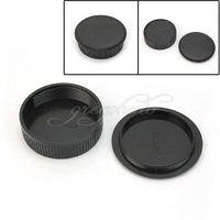 Wholesale Camera Lens M42 - Hot Sale Black Plastic Rear Cover + Body Cap Fit For all M42 42mm Camera & Lens