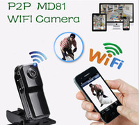 Wholesale Ip Video Recording - NEW WiFi P2P mini camera Mini camcorders DVR Md81 Sport Wireless DV IP Web Camera wifi camcorder Video Record 720*480 Motion Detection