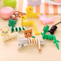 Wholesale X Clip Cable - Cartoon Earphone Cable Winder Protector Wire Cord Organizer protetor de cabo for iPhone X 5 5s 6 6s 7 plus Computer PC cable clip