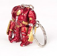 Wholesale Ironman Key Chains - The Avengers Keychains Pendant Ironman Pendant Key Chains 3d Action Figures Keychains free shipping in stock