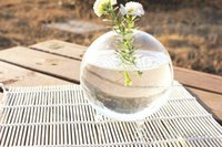Wholesale Glass Balls For Vase - Miniature Footed Bud Vase Container    Marimo Terrarium   Japanese Moss Ball Aquarium for Home Decor    Office Gift garden decor