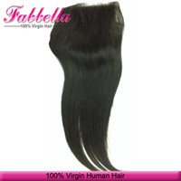 Wholesale Top Closure Bangs - Fabulous Silk Top Closure Malaysian Human Hair Weave Closure Pieces With Bangs 4x4 Base Silk Straight Closures Extensions for Women