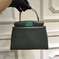 Wholesale Fe Bags - New Fashion Luxury Fe*d* Pee kaboo Women's Genuine Leather Bag Casual Frame Handbags Famous Designer brand Top quality Ladies Small Tot
