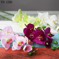 Wholesale Cheap Wholesale Orchids - Cheap Long Artificial Silk Orchid Fake Flower Home Decoration Accessories Wedding Decoration Mariage Party Diy Christmas Flowers