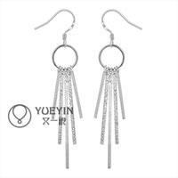 Wholesale Earrings Tassel New - New Style Fashion 925 Sterling Silver EARRINGS Tassels Dangle Women's Silver Earrings Jewelry High Quality E026