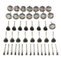 Wholesale Rotary Dremel - 45pcs Steel Wire Wheel Brushes Set Dremel Accessories for Rotary Tools