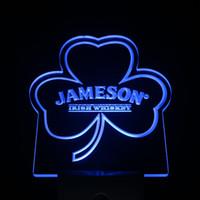 Wholesale Shamrock Light Sign - Wholesale-ws0235 Jameson Shamrock Day  Night Sensor Led Night Light Sign