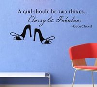Wholesale Classy Quote - new A Girl Should Be Two Things Classy Quote Wall Sticker Home Room Decal Decor free shipping