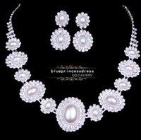 ingrosso matrimonio 88-diamante perla girasole matrimonio sposa set orecchini necklce (88) rgre