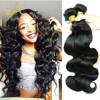 Wholesale cambodian wavy hair - Brazilian Virgin Human Hair Weave Bundles Peruvian Malaysian Indian Cambodian Straight Body Loose Deep Wave Curly Wet And Wavy 8A Mink Hair