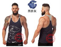 Wholesale Latest Shirts Designs For Men - Latest shirt designs for men 100% cotton fabric top tank sports fitness apparel Golds gym mens underwear gym vest men's clothing gym golds