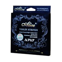 Wholesale Alice Strings - Wholesale- Alice A747 nickel-plated High-carbon steel Nylon core Aluminum Alloy wound silver wound Violin Strings 4pcs set