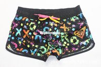 1510 ZH489 Schwarz Gelb Brief der Frau Brand New Süße Sports Wear Quick Dry Swimwears Beach Surf Board Shorts Pants Plus Size S-L