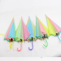 Wholesale Rainbow Umbrellas - Long Handle Rainbow Umbrella Multicolor Stitching Automatic Umbrellas Easy To Carry Adults Bumbershoot Hot Sale 3 7yy B R