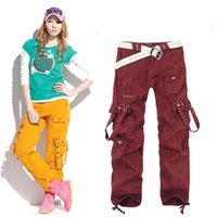 Wholesale Baggy Pants For Girls - Women's Clothing Fashion Winter Women Baggy Cargo Pants Girls Harem Slim Straight Cargo Trousers For Hip Hop Dance 20A