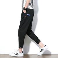 capris de color caqui al por mayor-Al por mayor-2017 del estilo del verano pantalones casuales hombres de color caqui verde del tobillo pantalones de hombre de longitud coreana Slim Fit pantalones masculinos de algodón más el tamaño 5XL