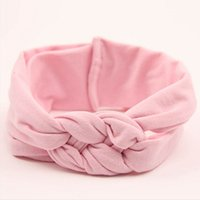 Wholesale black hair kid - 1 X New Soft Toddler Infant Gilrs Baby Kids Hairband Turban Knitted Knot Headband Cross Headwear Hair Band Accessories