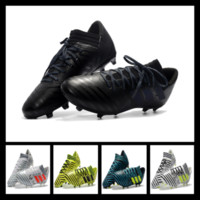 Wholesale Mens Stripe Soccer - 2017 All New Nemeziz 17+360 Agility Football Boots Mens Shoes Messi Stripe Soccer Cleats Outdoor Sneakers Size US 6.5-11