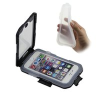 Wholesale Iphone Bike Mount Water - Bike Bicycle Phone Mount Holder Waterproof Case Cover Cell Phone Holder for iphone 6S Plus