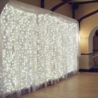 açık dekorasyon ışıkları perde toptan satış-4.5 M x 3 M 300 LED Icicle Dize Işıklar Noel noel Peri Işıklar Açık Ev Için Düğün / Parti / Perde / Bahçe Dekorasyon 2017