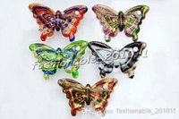 Wholesale Lampwork Glass Butterfly Necklace - NEW Charm European Beads Butterfly Multi-Color Lampwork Murano Glass Animal Pendants Necklaces Wholesale Retail FREE #pdt11c