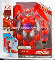 Wholesale 6 Inch The Latest Big Hero Baymax PVC Action Figure Toys Fat Balloon Man Doll Transformations Robot Toy Gift For Children