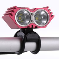 Wholesale Cycle Light Led Cree 2x - 300M 2x CREE XML XM-L IPX-8 T6 LED Bicycle Bike Light Lamp cycling X2 bike light headlamp waterproof headlight+Charger+battery