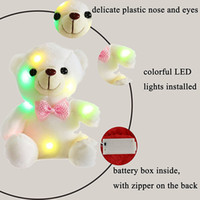 Compra Orso Principale-20cm Creativo Light Up LED Teddy Bear Peluche Toy Colorful Glowing Teddy Bear Regalo di Natale per i bambini