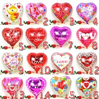 Wholesale I Favor - Love Heart 18'' Color Balloons I LOVE YOU Romantic Wedding Decoration Aluminum Foil Balloon Valentines Gift