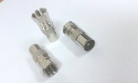 Wholesale coaxial cable plug - F Male Plug To PAL TV Male Straight Coaxial Cable RF adapter