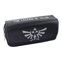 Al por mayor- The Legend of Zelda Pen Pencil Bag Purse Zelda Game Big Capacity Zipper Stationery para estudiantes Kids Anime Pen Pouch Wallet