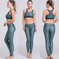Wholesale Dry Suits For Women - Fitness Workout Clothing Women's Gym Sports Running wear Girls Slim Leggings+Tops Women Yoga Sets Bra+Pants Sport Suit For Female