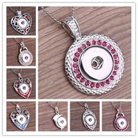 Wholesale Dolphin Necklace Mix - Mix 8 Style Snap jewelry necklace Crystal Heart dolphins Vocheng pendant necklace with snake chain for christmas gift N65