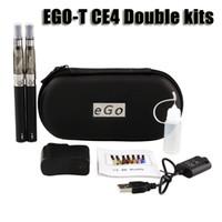 ego double ce4 fall großhandel-Ego t ce4 doppel starter kit 1,6 ml ce4 zerstäuber clearomizer 650 900 1100 mAh ego-t batterie reißverschluss fall bunte