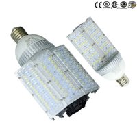Wholesale 12v Dc Light Bulbs E27 - DC 12V 24V E27 E40 Led Street Bulb Lights Road Lamp 30W 40W 60W 80W 100W Waterproof Led Lights AC 85-265V