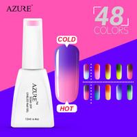 changement de température vente de vernis à ongles achat en gros de-2015 Brand New Azure gel pour les ongles 1 pcs ventes chaudes nouvelle saison changement de couleur avec la température vernis à ongles 48 couleurs disponibles