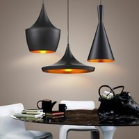 Wholesale Tom Dixon Copper Light Shades - 3pcs pack Black New ABC(Tall,Fat and Wide) Design by tom dixon copper shade musical pendant lamp Beat Light,110V 230V