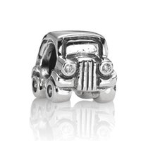 Wholesale Shape Fun - Fashion Small Car Shape 925 Sterling Silver European Screw Bead Charms New Fun Child Jewelry For Snake pandora Bracelet Chain Wholesale