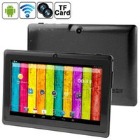 Atacado-708 Allwinner A23 1.2GHz Dual Core 512 Tela de 7.0 polegadas + 4 GB NAND Flash Android PC 4.2.2 Tablet com Wi-Fi / Bluetooth