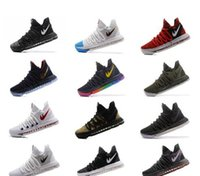 Wholesale Men S Kd Shoes - Wholesale - Zoom KD10 EP basketball shoes Kevin Durant men&039;s shoes sneakers black white KD 10 EP X Mens running shoes size 40-46