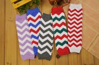 Wholesale Wholesale Christmas Chevron Leggings - New Chevron Baby Leg Warmer Children Zig zag Leg Warmers Christmas infant toddle leggings Tights Adult Arm warmers wholesale 24Pcs=12Pairs