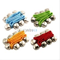 Wholesale Instruments For Children Bells - Wrist Foot Bell Instrument Percussion Orchestra Baby Rattles Toy For Children Kids New and Hot Selling