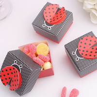 Wholesale Ladybug Favor - 10Pcs Lot Ladybug Baby Candy Box Bottle Shower Baptism Party Birthday Favor Christening Gift New Free Shipping