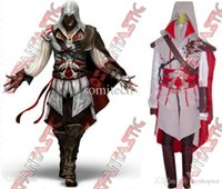 Wholesale Cosplay Ezio White - Wholesale-Assassin's Creed 2 II Ezio white anime cosplay costume