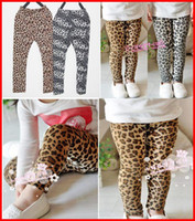 Wholesale Leopard Print Tight Pants - Free Ship 2016 Spring Baby Girls Leopard Leggings Fashion Children Print COOLEYE Pants Kids Fall Winter Clothing Warm Trousers Free Shipping